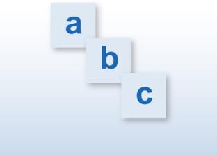 Letterplank drukletter