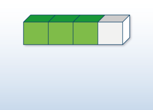 Fractions bar horizontal