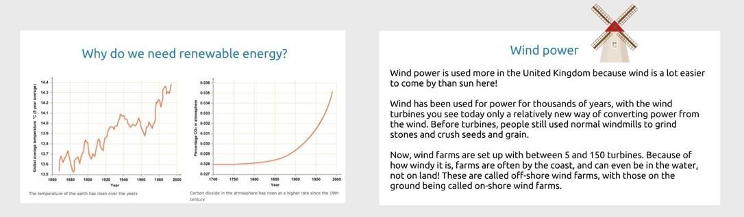 British Science Week Renewable energy