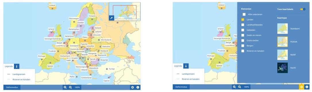 Topografie Europa