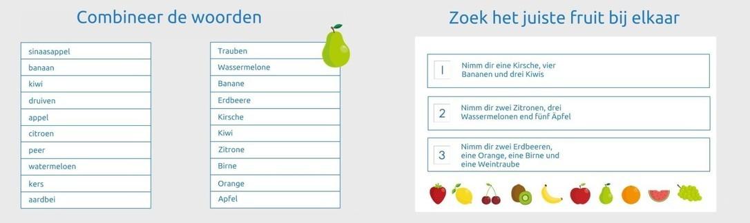 Duitse les 'Fruit'