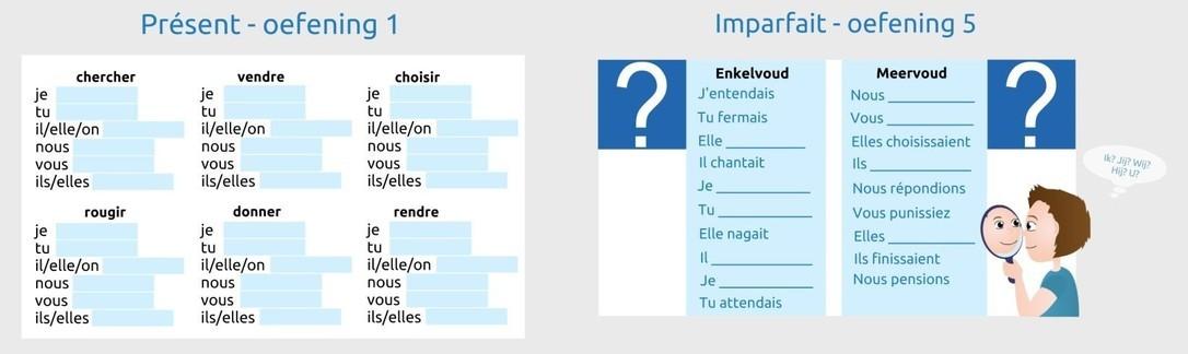 Franse les werkwoordvervoegingen 1