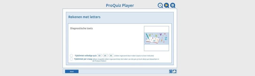Diagnostische toets letterrekenen 1