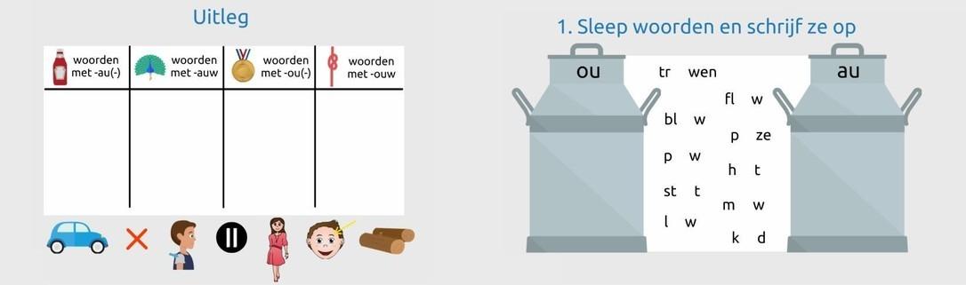 Les -au- -auw -ou- -ouw woorden gr 5