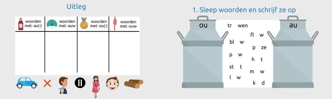 Les -au- -auw -ou- -ouw woorden gr 4