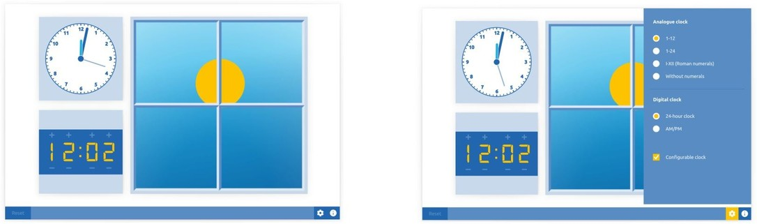Clock day and night