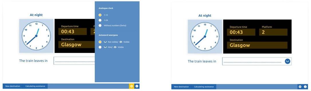 Train departure times
