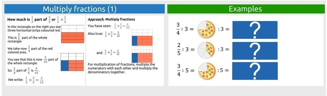 Calculate with fractions part 3