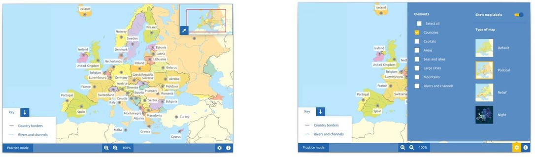 Topography Europe