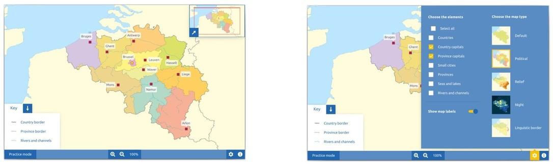 Topography Belgium