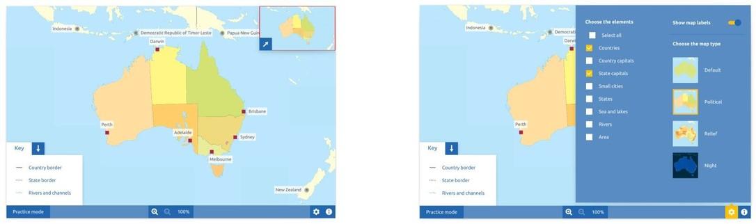 Topography Australia