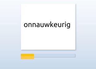Spelling M7 au woorden