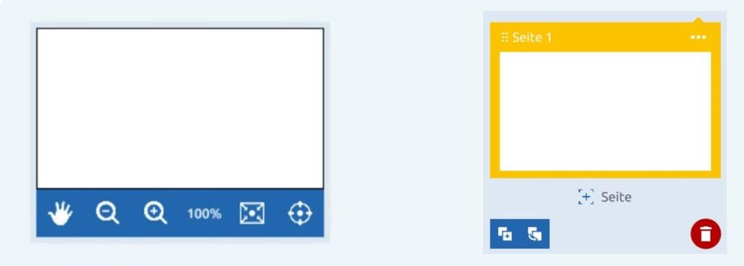 Seitennavigation und Seitenmanager
