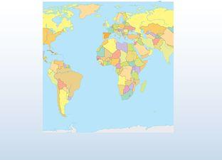 Topografie wereld