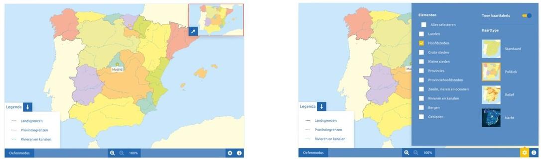 Topografie Spanje