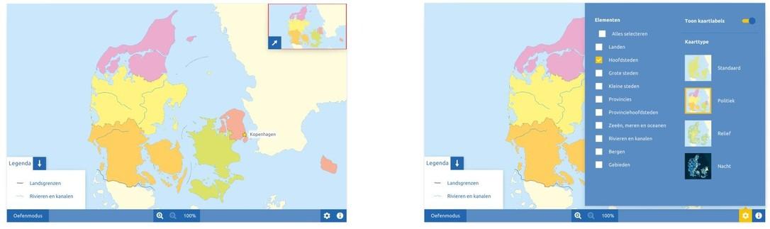 Topografie Denemarken