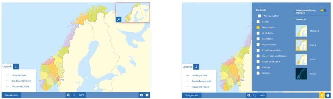Topographie Norwegen