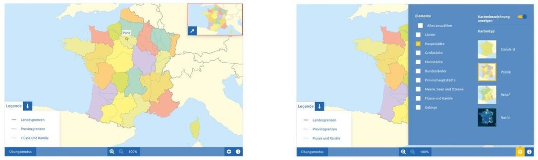 Topographie Frankreich