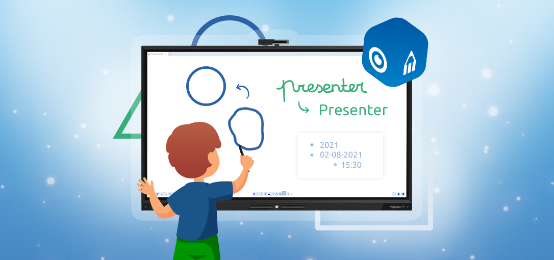 Text and shape recognition in Prowise Presenter