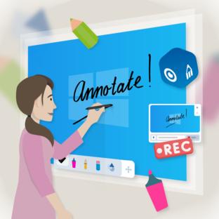Presenter Windows-app met annotate