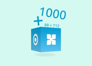 Optellen tot 1000