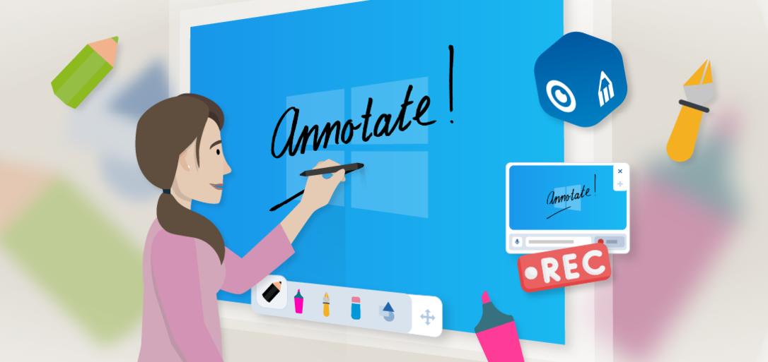 Presenter Windows app with annotate
