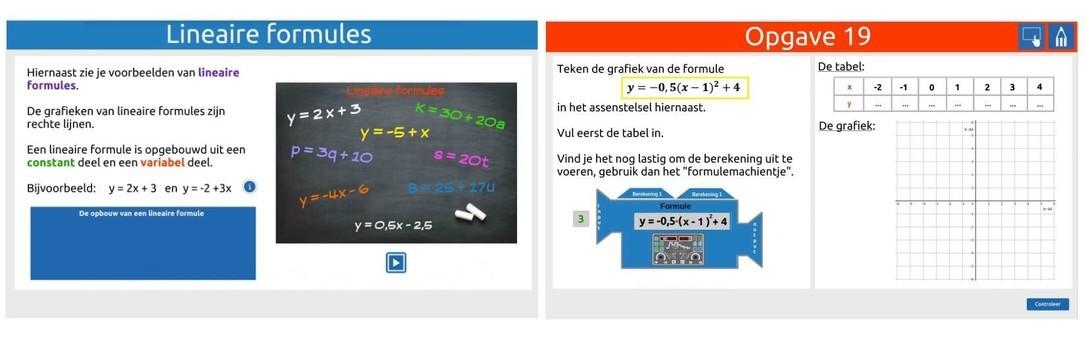 Formules 2: lineaire- en kwadratische formules