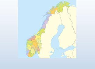 Topografie Noorwegen oefenmodus