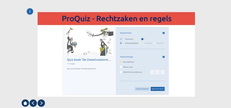 ProQuiz - Rechtzaken en regels