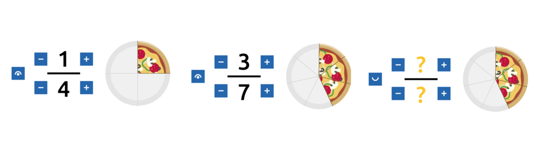 Fraction pizza