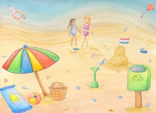 Vertelplaat 'De zomer'