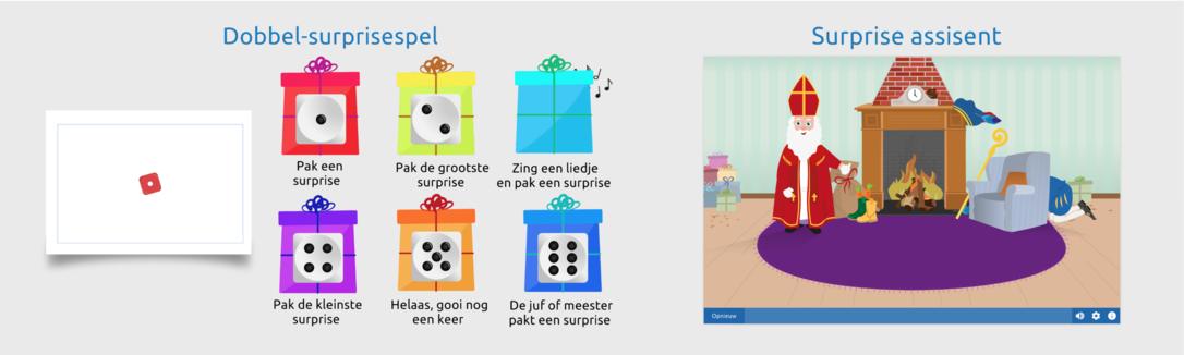 Het dobbel-surprisespel Sinterklaas