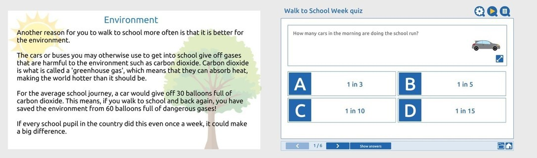 Walk to School Week - Primary
