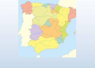 Topographie Spanien