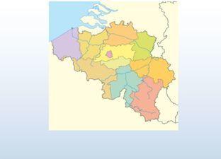 Topographie Belgien