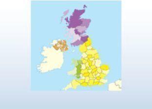 Topographie Vereinigtes Königreich Übungsmodus