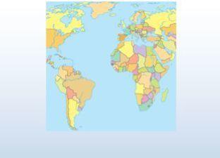 Topographie Welt