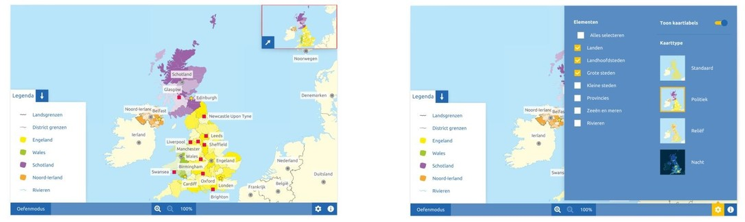 Topografie Verenigd Koninkrijk