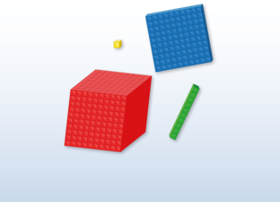 Base ten blocks (MAB) Practice mode