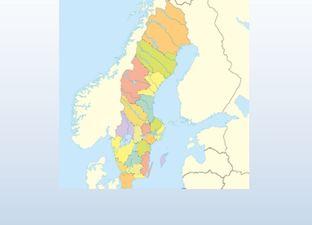 Topographie Schweden
